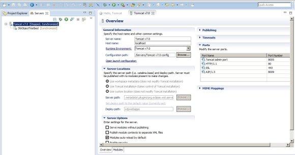 Server Overview Dialog